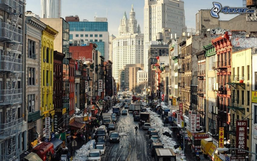 New York, Chinatown, Straße