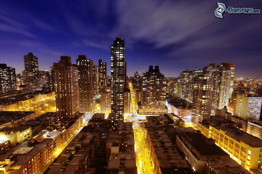New York in der Nacht