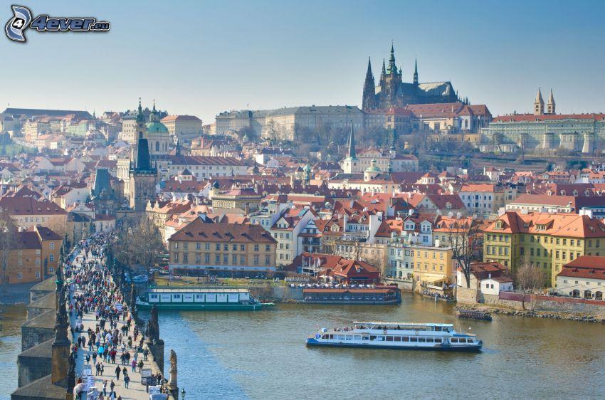 Prag, Prager Burg, Karlsbrücke, Moldau