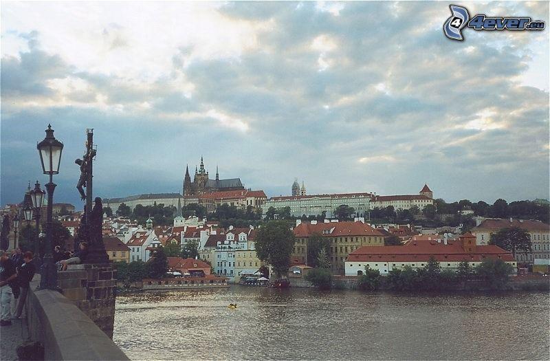 Prager Burg, Prag, Moldau