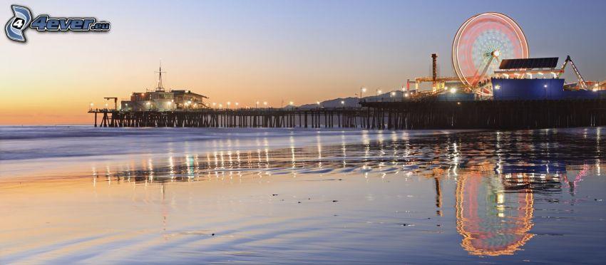 Riesenrad, Meer, Pier, Santa Monica