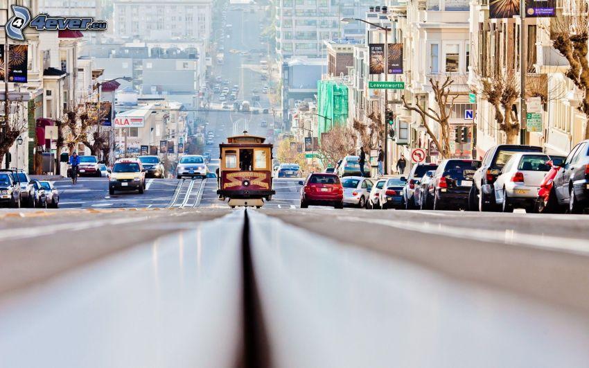 San Francisco, Straßenbahn, Straße
