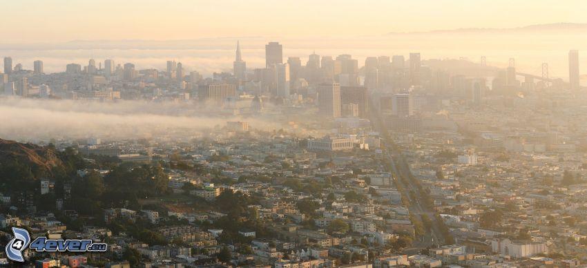 San Francisco, Wolkenkratzer, Boden Nebel