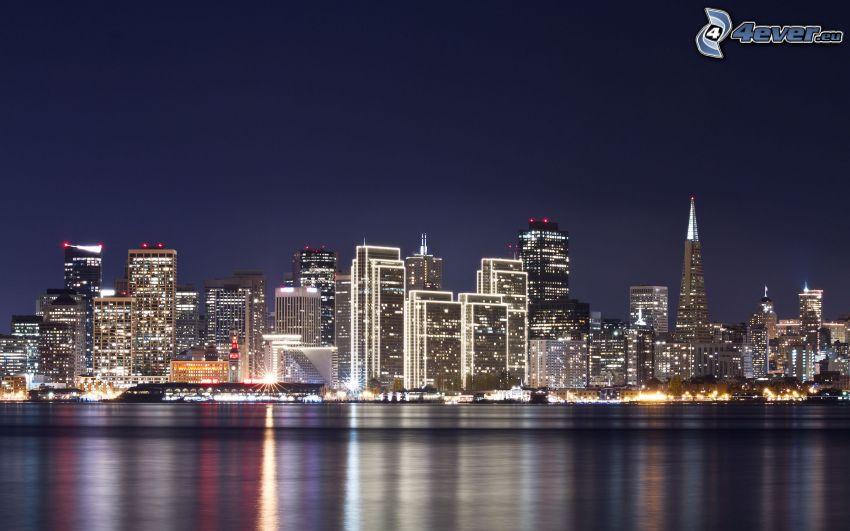 San Francisco, Wolkenkratzer, Nachtstadt