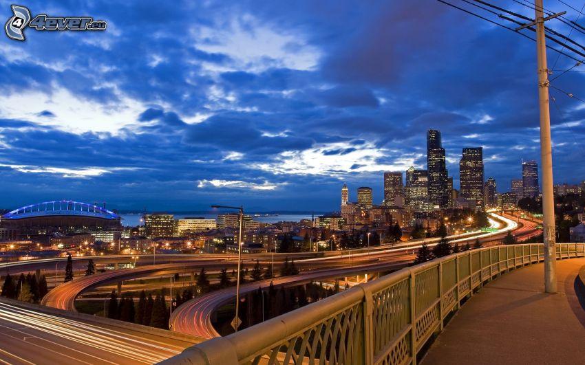 Seattle, Kreuzung, Wolken
