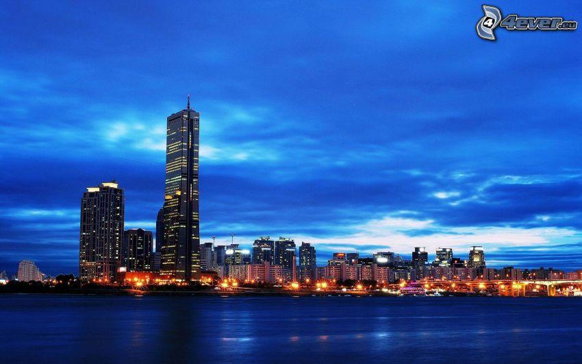 Seoul, Wolkenkratzer, abendliche Stadt