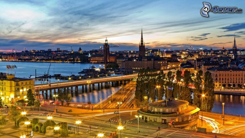 Stockholm, abendliche Stadt