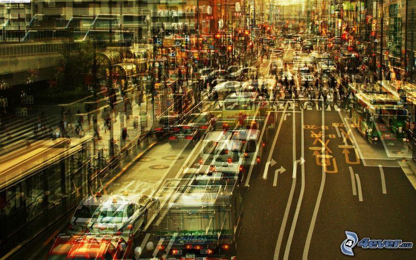 Straße, Autos