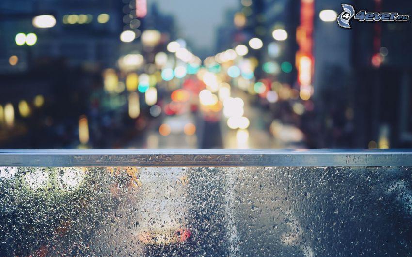 Straße, City, Geländer