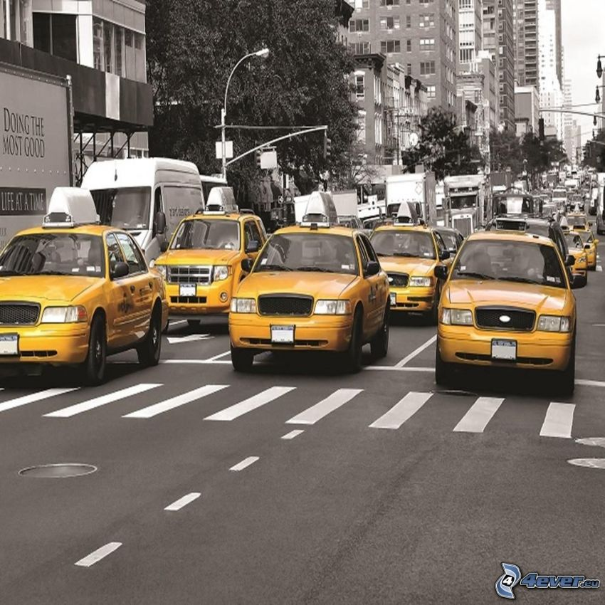 Straße, NYC Taxi