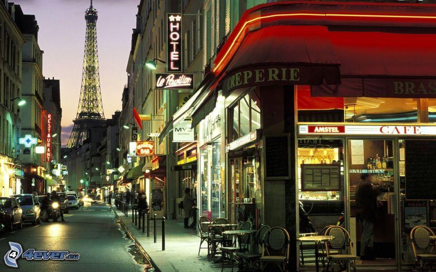 Straße, Paris, Eiffelturm