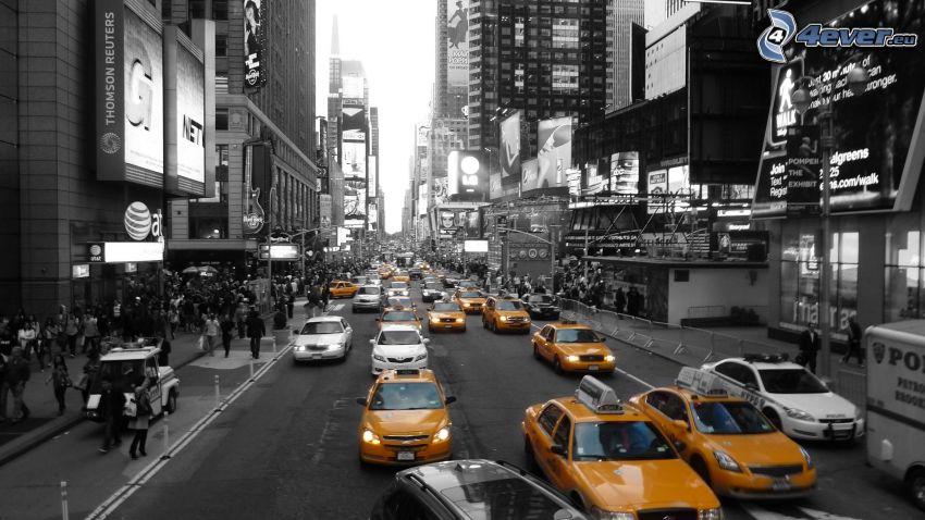 Straße, taxi