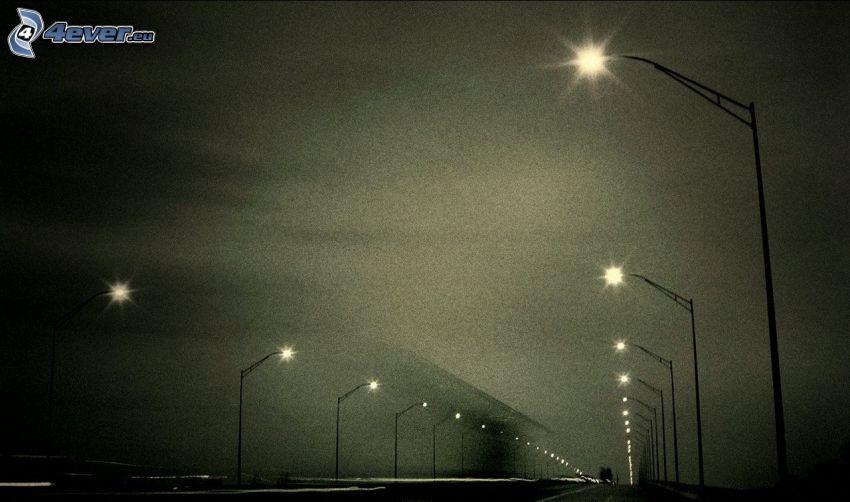 Straßenlampen, Straße