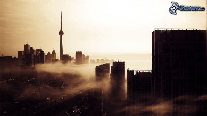 Toronto, CN Tower, Boden Nebel