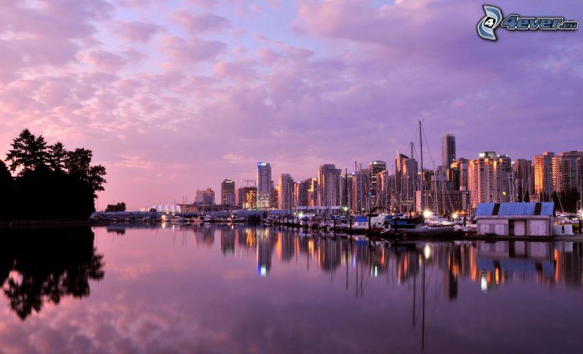 Vancouver, abendliche Stadt