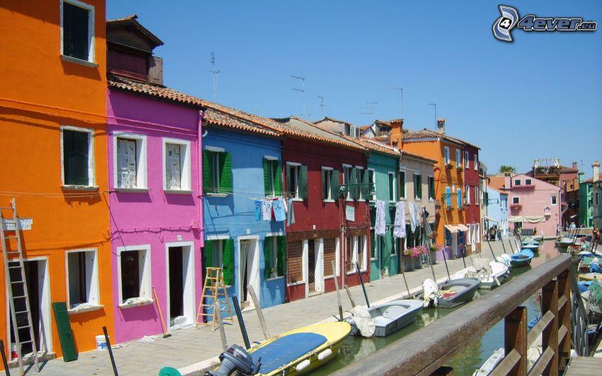 Venedig, farbige Häuser