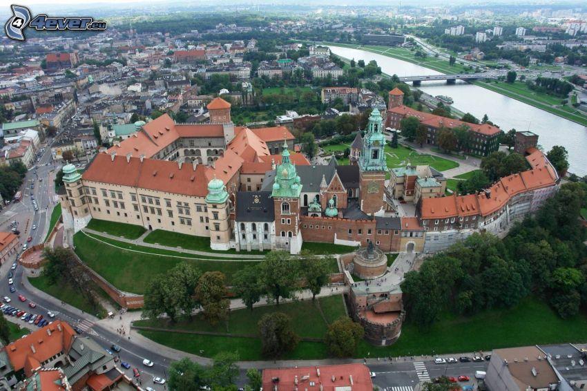 Wawel Schloss, Krakau, Fluss