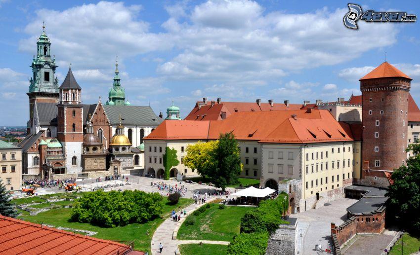 Wawel Schloss, Krakau, Platz