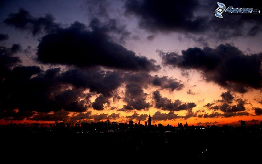 Wolken, City, Himmel