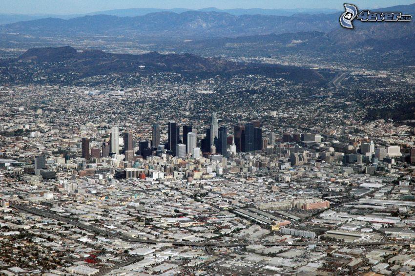 Zentrum von Los Angeles, Kalifornien, City, Wolkenkratzer