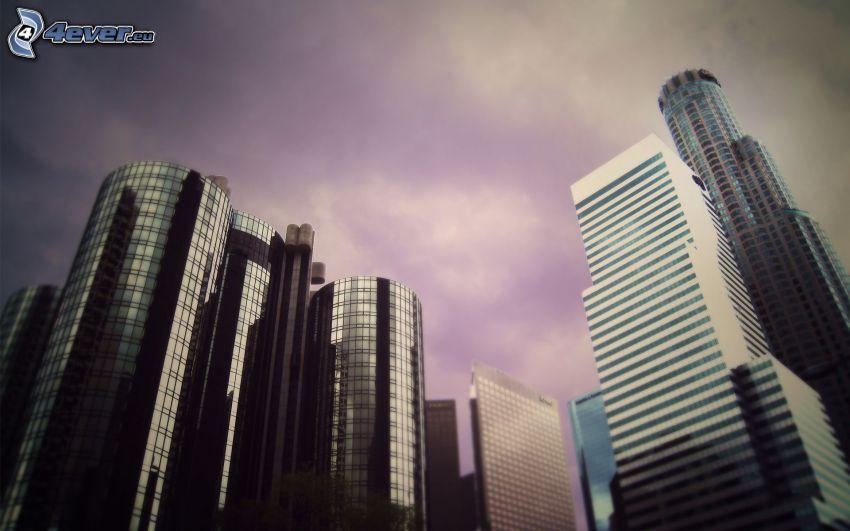 Zentrum von Los Angeles, Wolkenkratzer