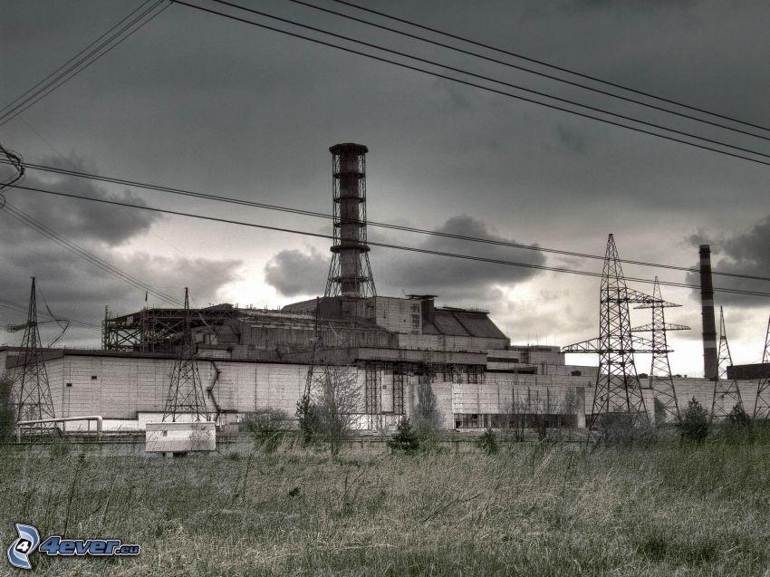 Tschornobyl, Kernkraftwerk, elektrische Leitung