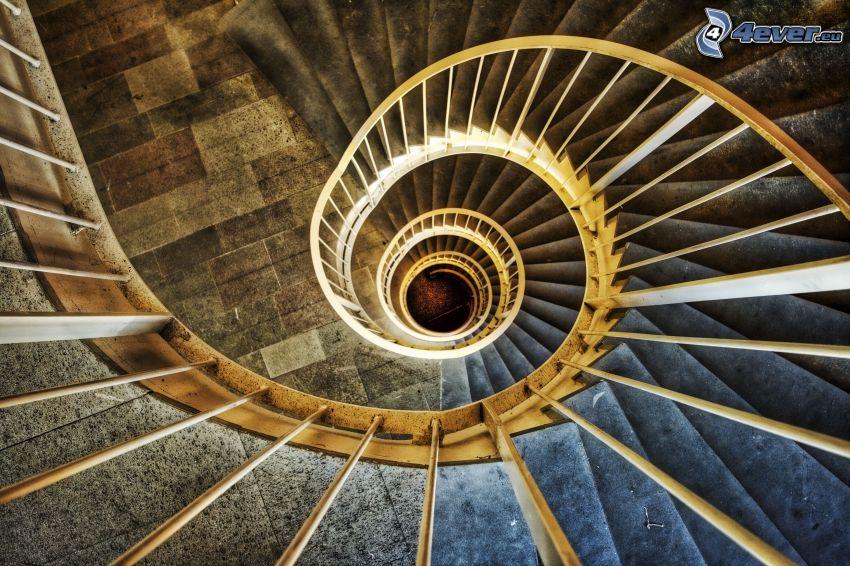 Verdrehte Treppen, Spirale, Geländer