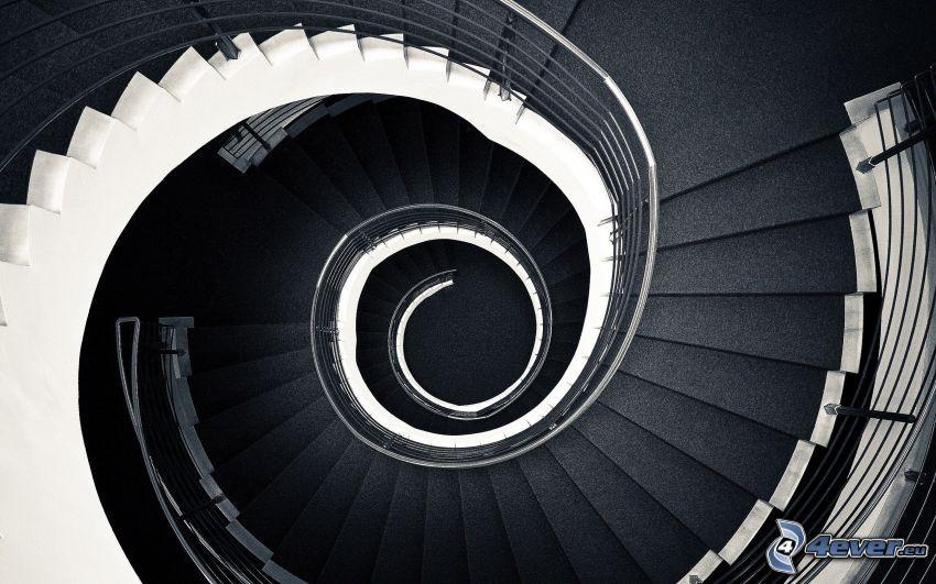 Verdrehte Treppen, Spirale