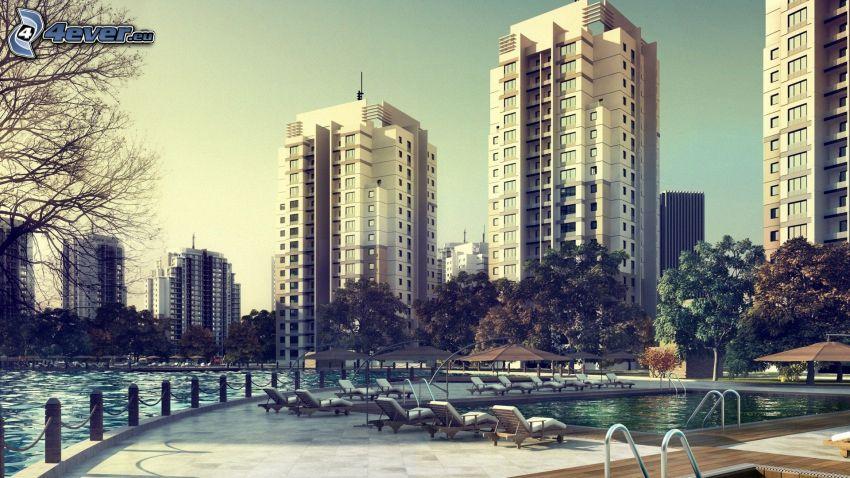 Wolkenkratzer, Bassin