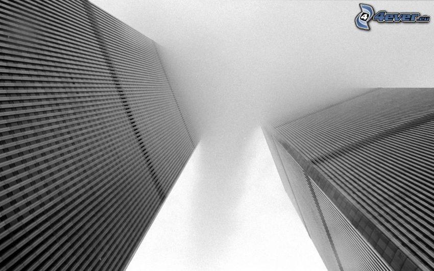 World Trade Center, Wolkenkratzer im Nebel, WTC, New York