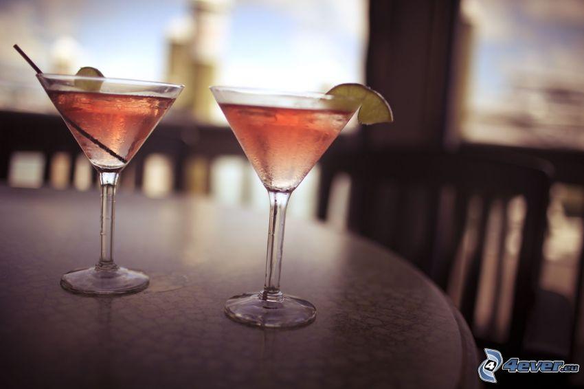 Cocktail, Limettenscheibe