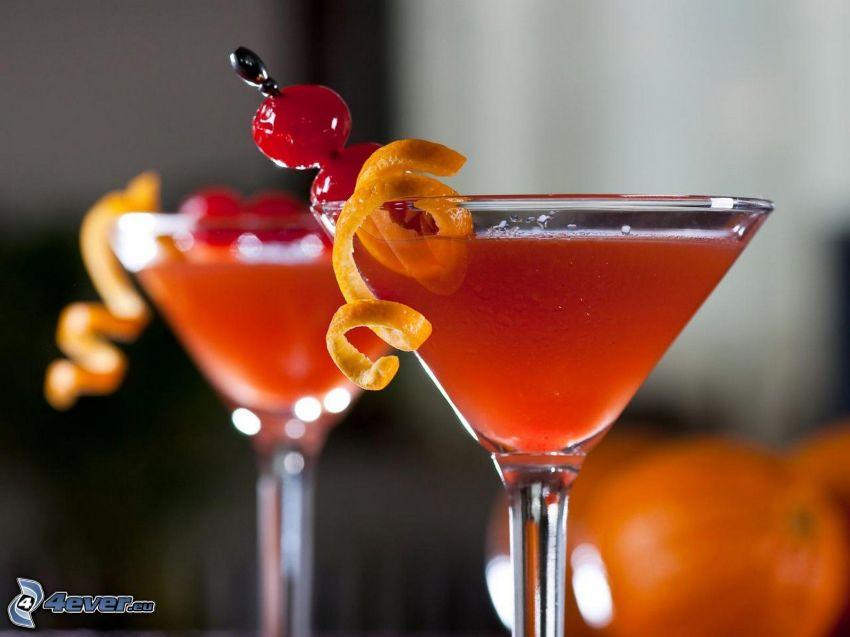 Cocktail, Zitrone, Sauerkirschen