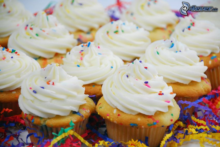 cupcakes, Schlagsahne