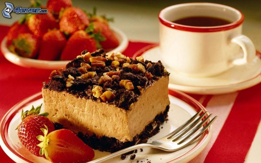 Dessert, Kuchen, Tee