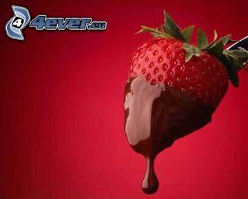 Erdbeere in Schokolade