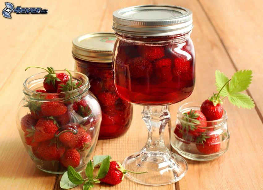 Erdbeeren, Gläser