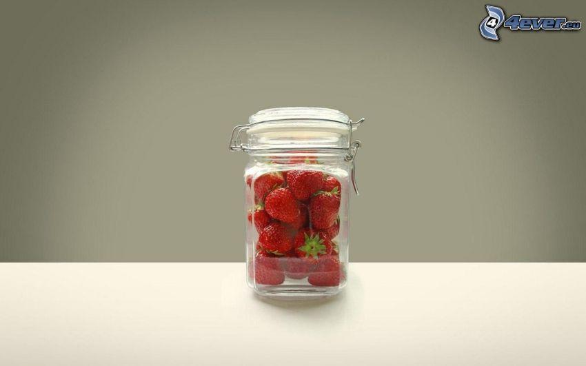 Erdbeeren, Tasse