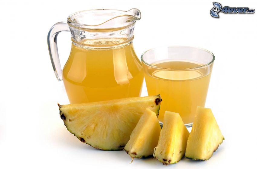 frischer Fruchtsaft, Ananas