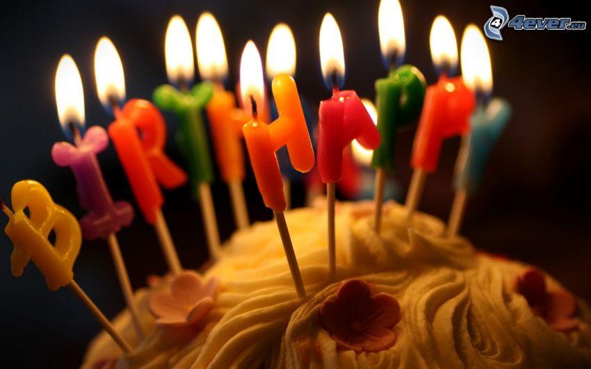 Happy Birthday, Kuchen, Kerzen