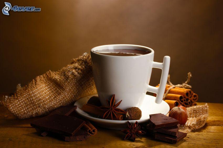heiße Schokolade, Zimt