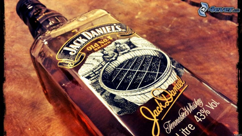 Jack Daniel's, whisky, Flasche
