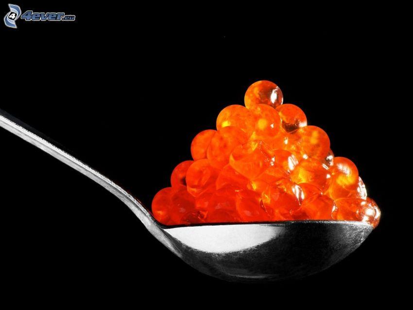 Kaviar, Löffel