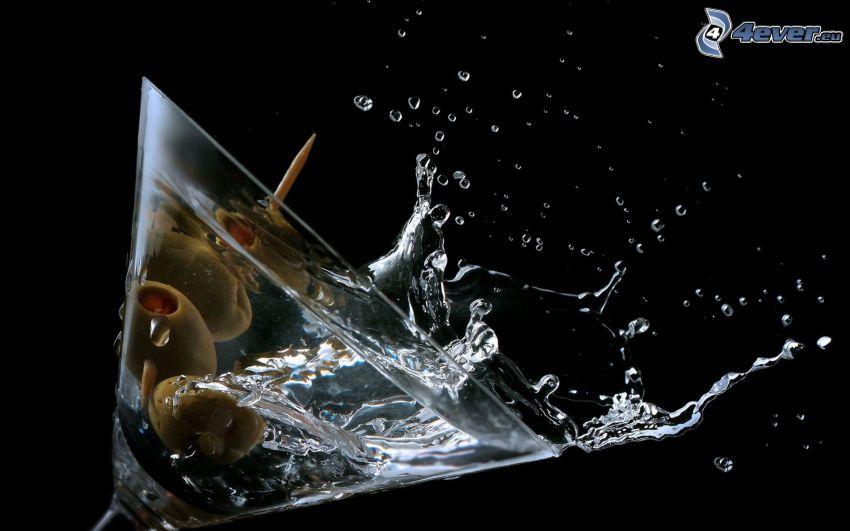 Martini, Oliven, splash