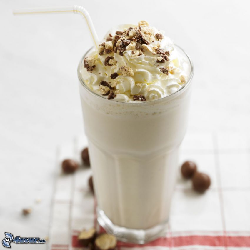milk shake, Schlagsahne