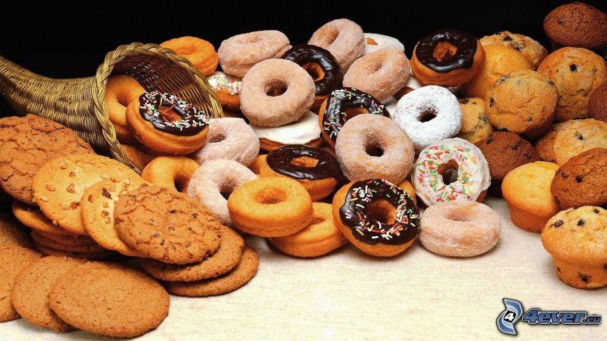 Nudel, cookies, Muffins