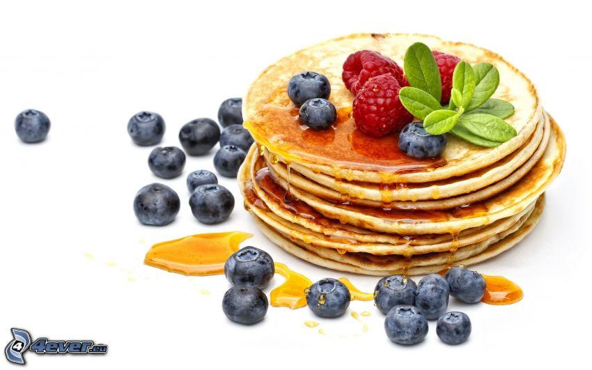 Pfannkuchen, Blaubeeren