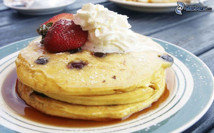 Pfannkuchen, Erdbeere