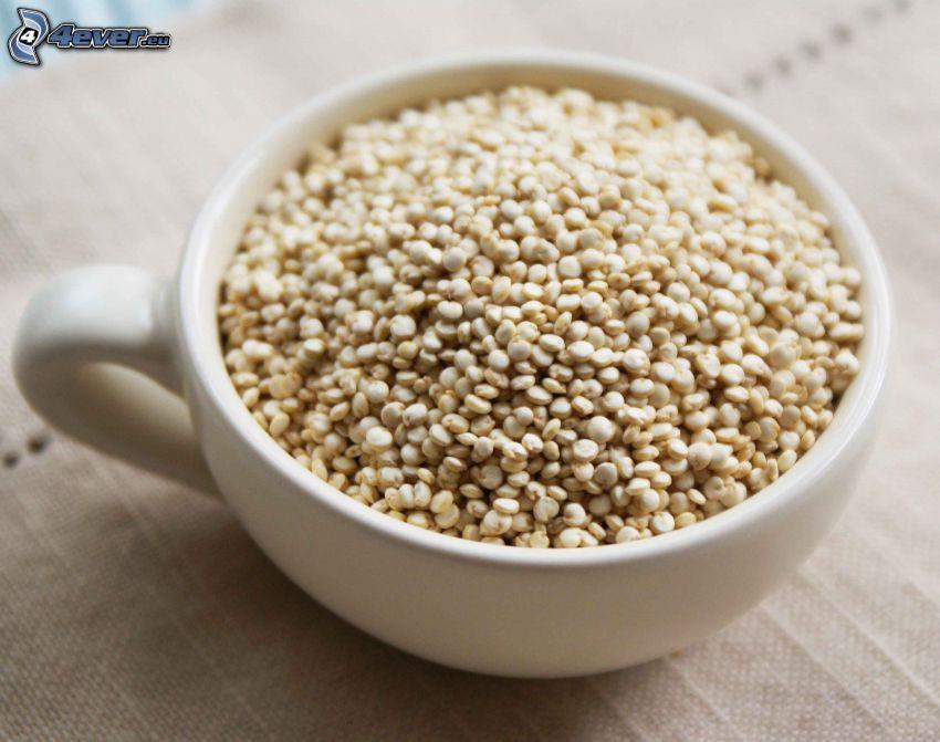 Quinoa, Becher