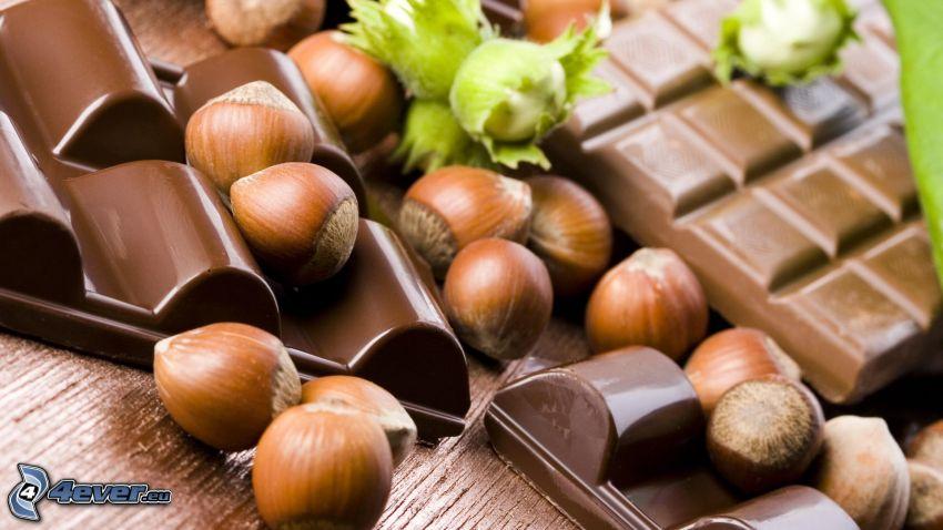 Schokolade, Haselnüsse