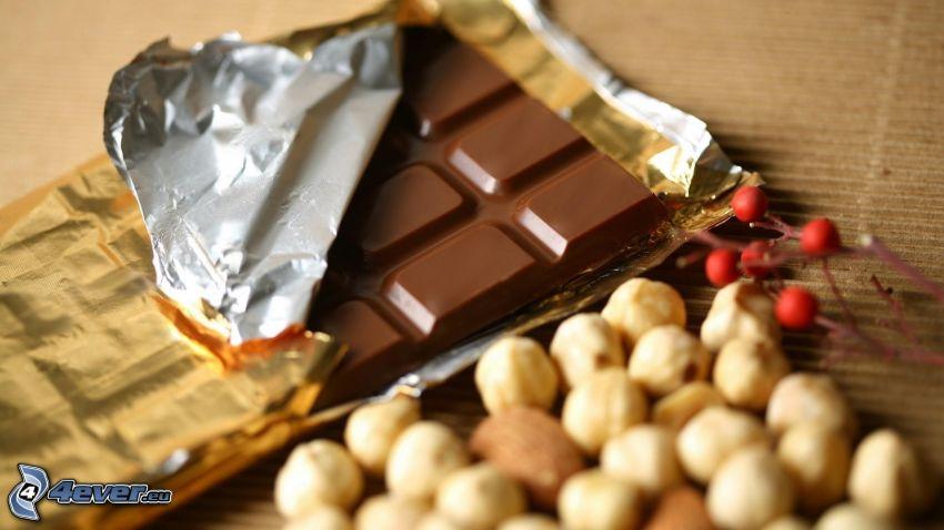 Schokolade, Nüsse